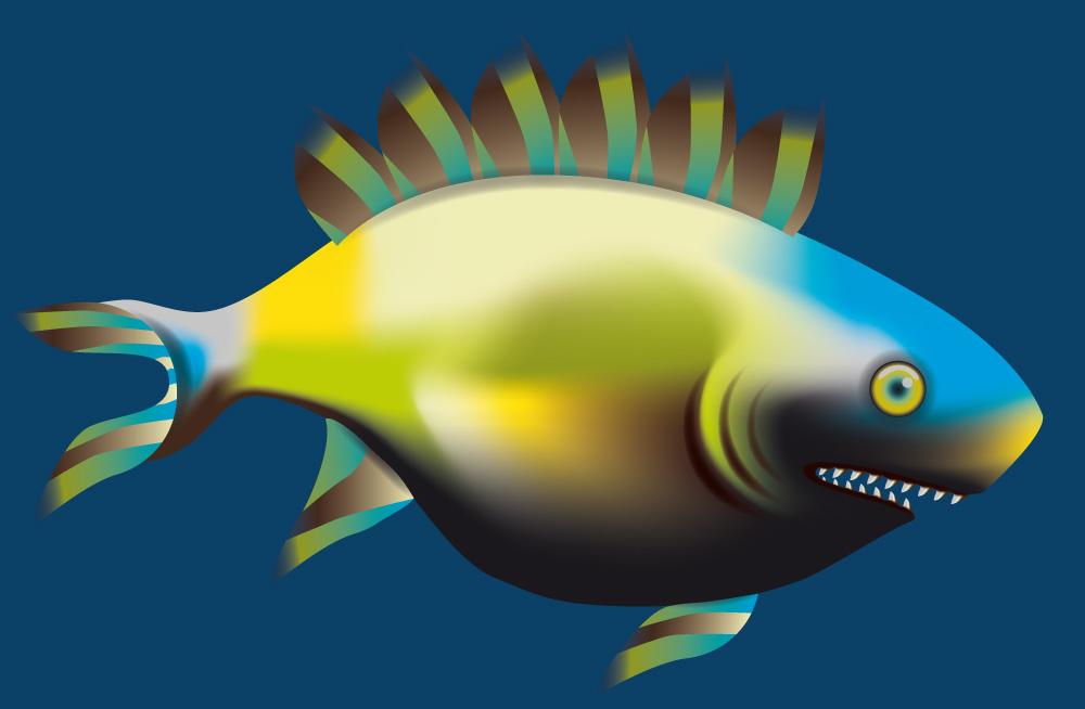 """Grafik """"Fisch"""""""