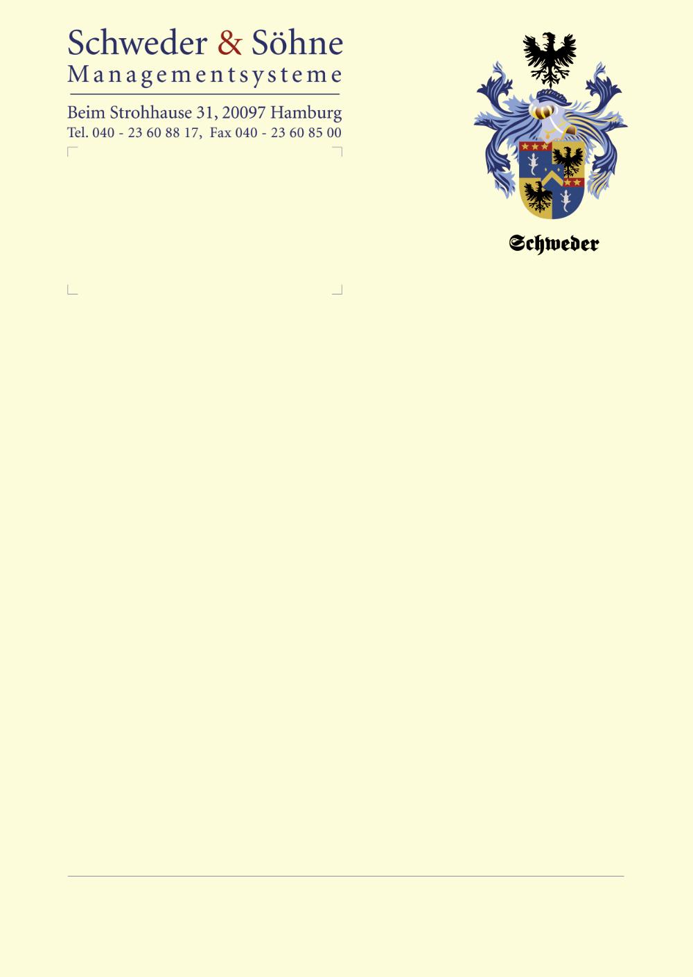Schweder Briefpapier