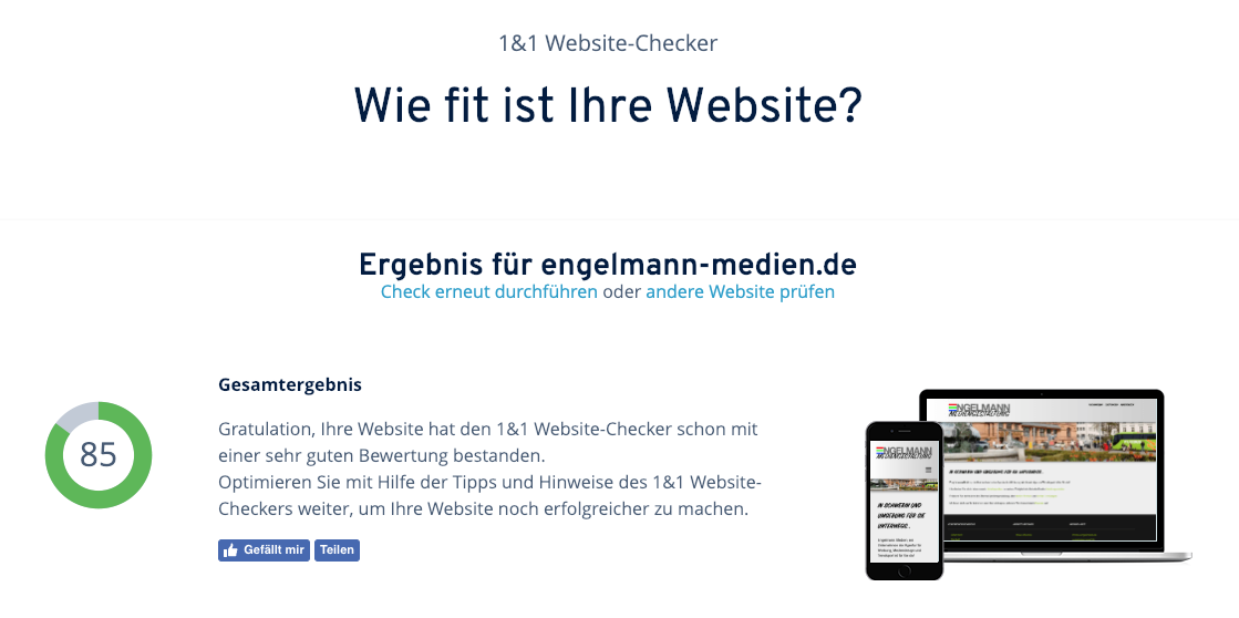 Website Check Engelmann Medien